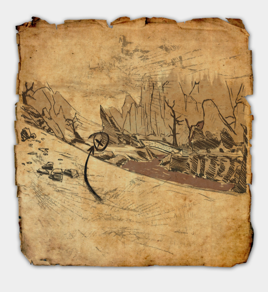 pirate map clipart, Cartoons - Stonefalls Treasure Map Vi - Clockwork City Treasure Map 2