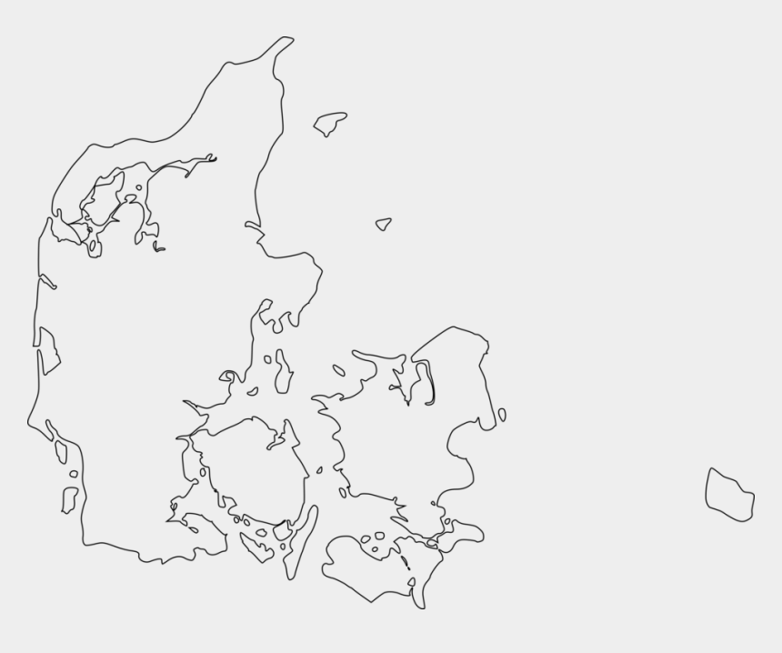 world map clipart black and white, Cartoons - Blank Map County Of Greenland, Denmark World Map Flag - Map Of Denmark Transparent
