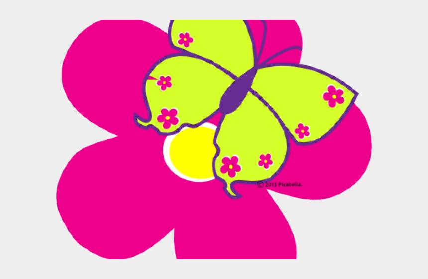 pink butterfly clipart, Cartoons - Adorable Clipart Cute Pink Butterfly - Butterfly Spring Flower Clip Art