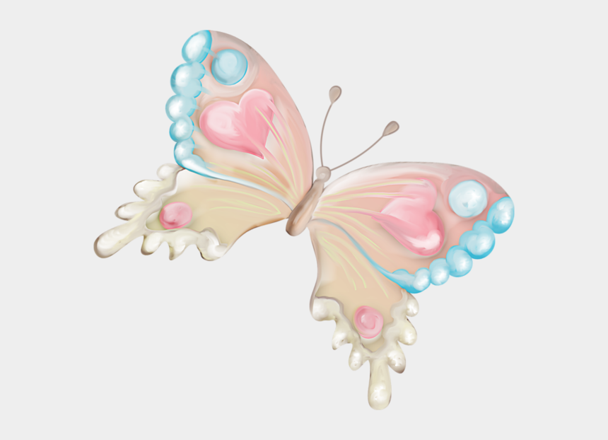 butterfly wings clipart, Cartoons - Wing Clipart Pastel - Watercolor Transparent Background Butterfly