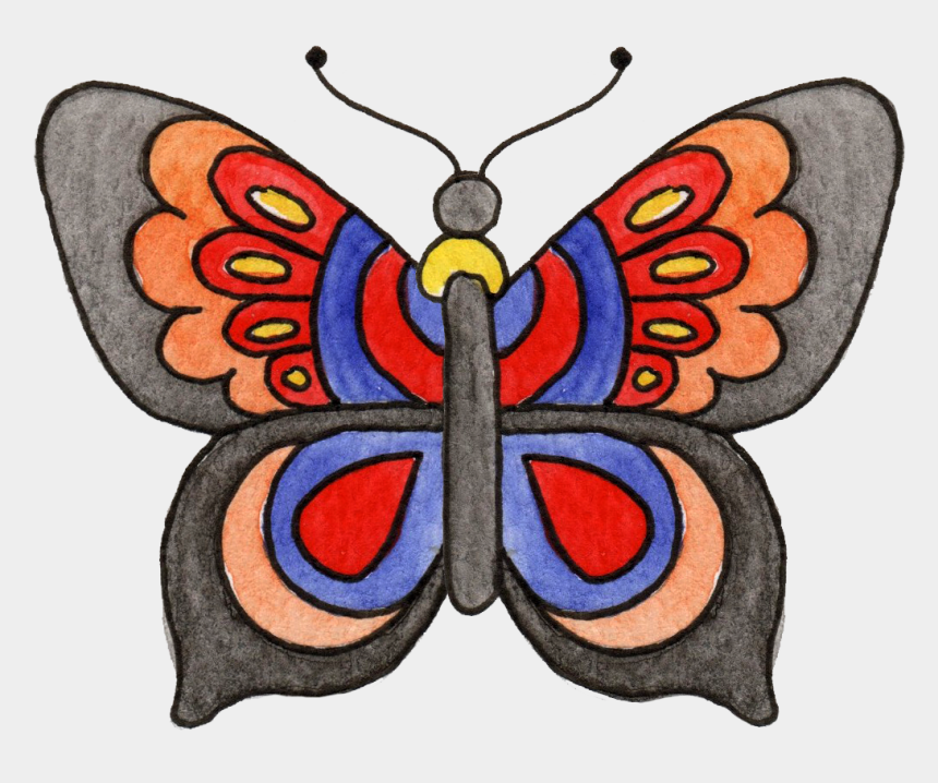flying butterfly clipart, Cartoons - Monarch Butterfly Clipart Sketch - Butterfly