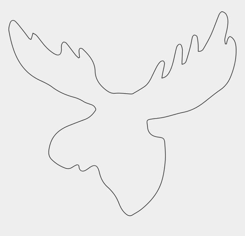 moose head clipart, Cartoons - Moose Reindeer Mammal Elk - Outline Of A Moose Head