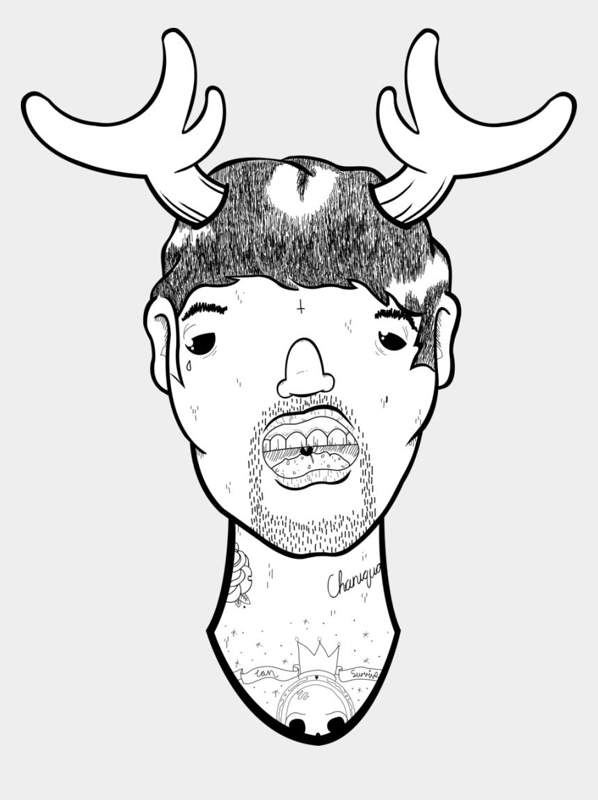 moose head clipart, Cartoons - Moose Head By Scottalexanderham123 - Moose Head Drawing Easy