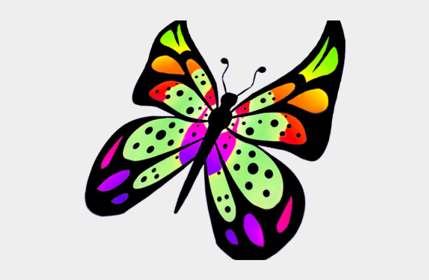 butterfly wings clipart, Cartoons - Colorful Flying Butterfly Clipart