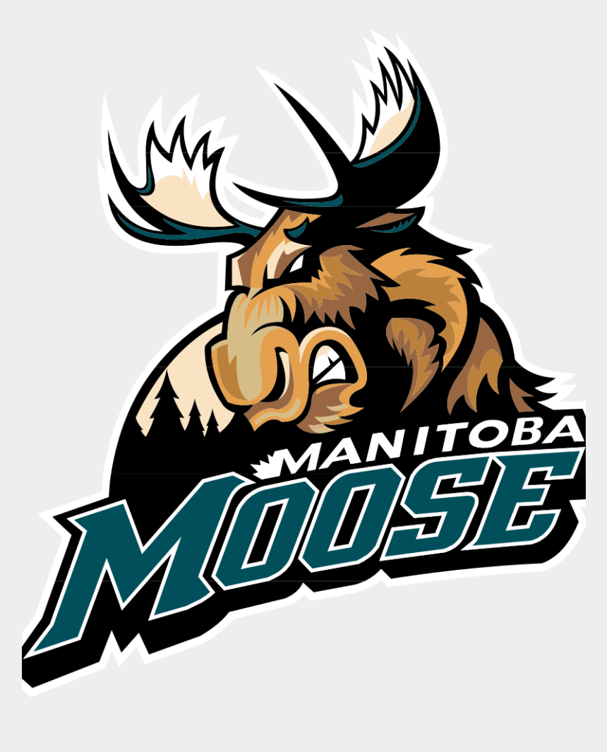 free moose clipart, Cartoons - I Played A Lot Of Hockey In Winnipeg And This Was The - Manitoba Moose Logo