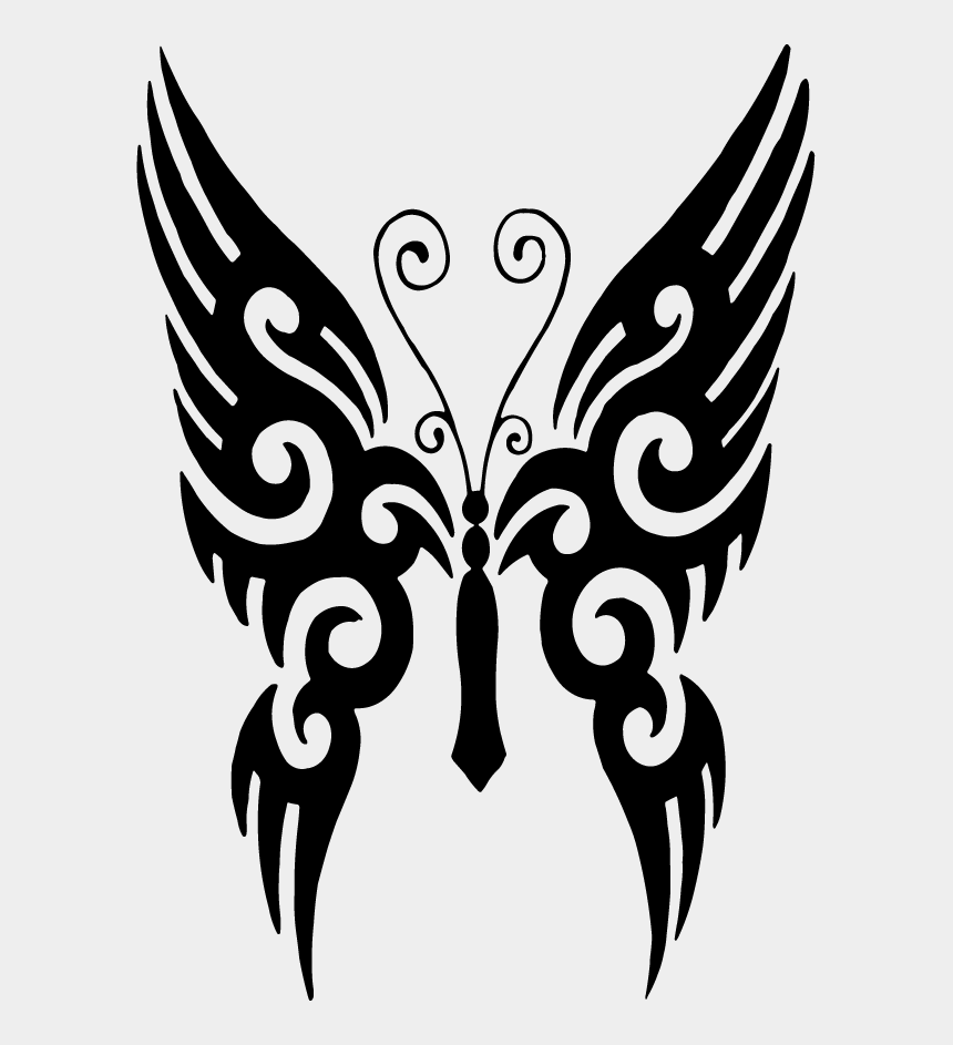 butterfly wings clipart, Cartoons - Butterfly Tattoo Designs Clipart Png - Butterfly Tattoo Vector