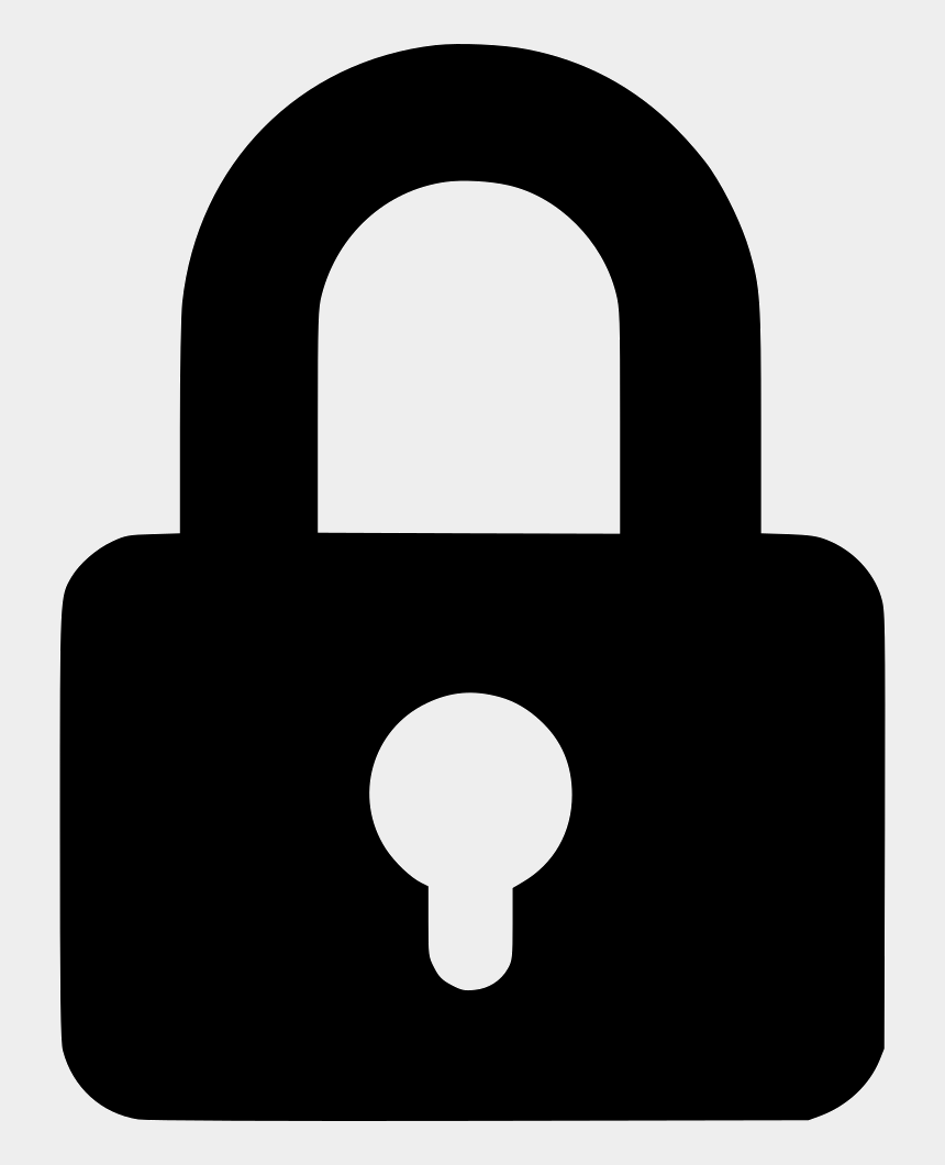 lock and key clipart, Cartoons - Lock Key Private Safe Password Secure Comments - Lock Icon Svg