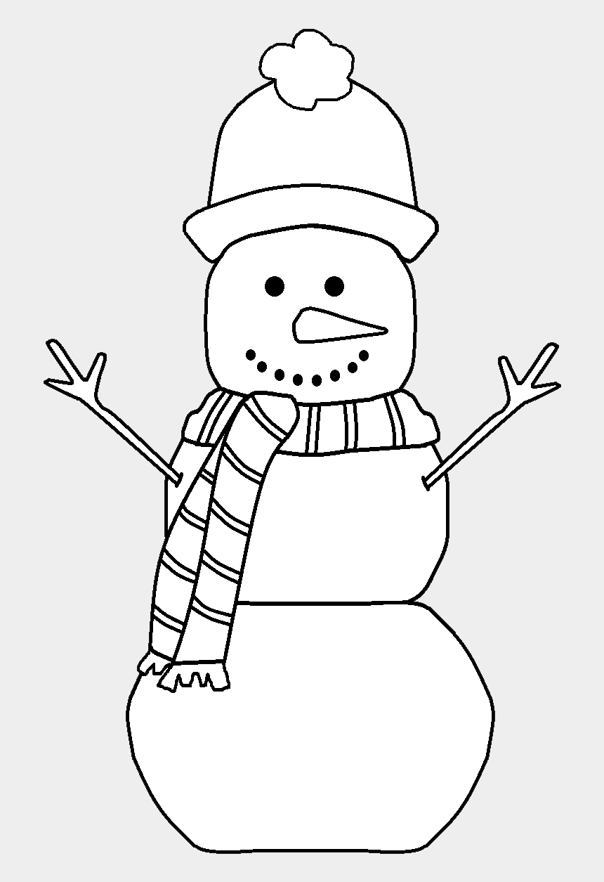 frosty the snowman clipart, Cartoons - Background Courtesy Of - Snow Man Clip Art Black And White