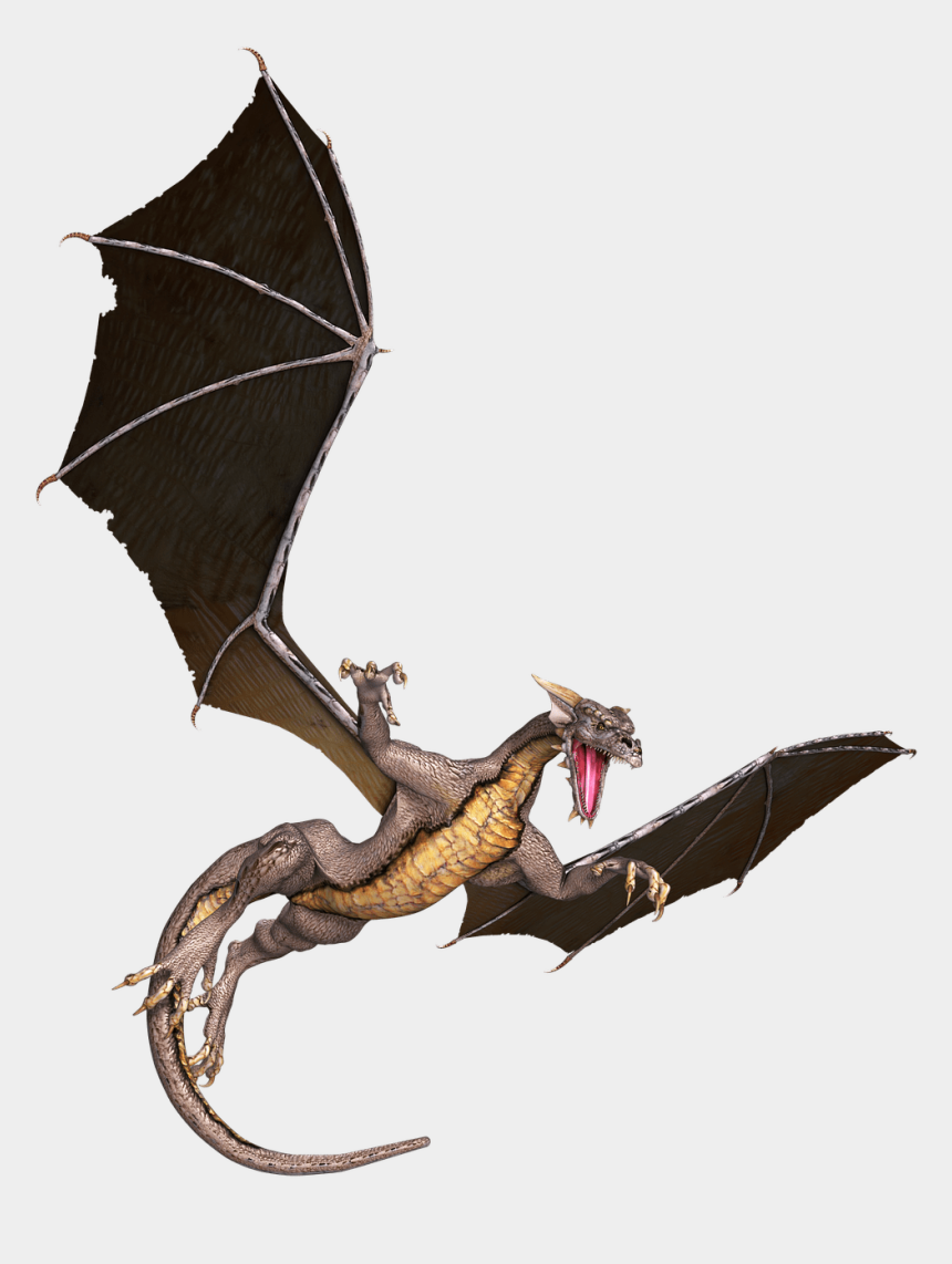bearded dragon clipart, Cartoons - Brown Flying Png Stickpng Download Ⓒ - Dragon Flying Png