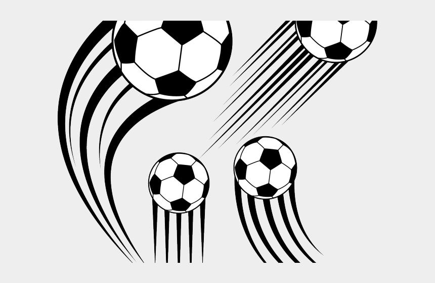 football clipart black and white, Cartoons - Football Clipart Clipart Kicking - Soccer Ball Vector Png