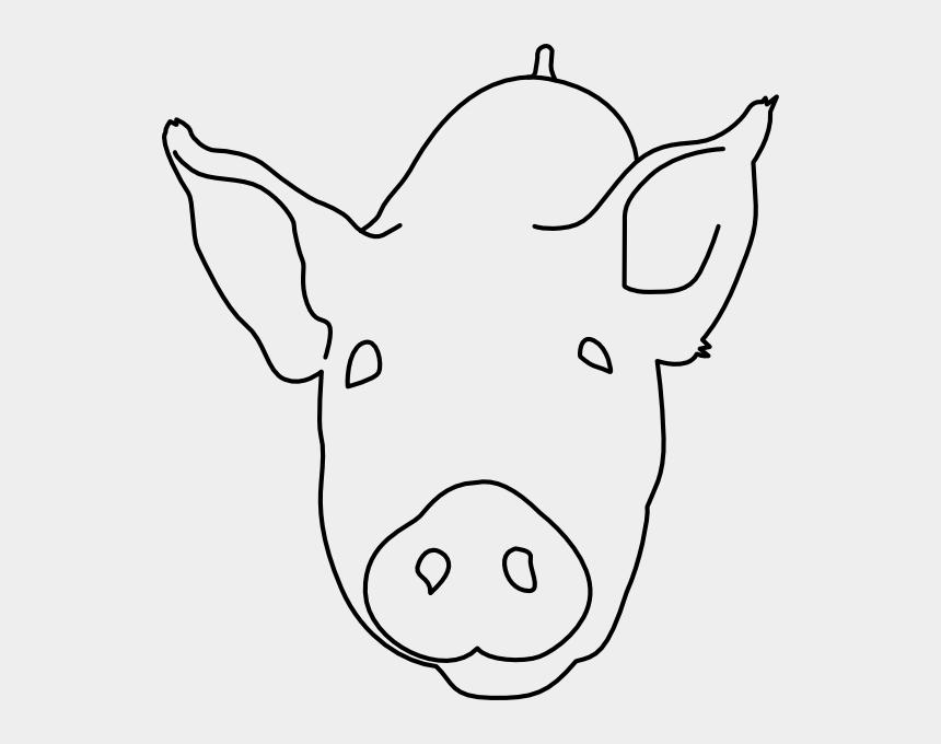 pig head clipart, Cartoons - Draw A Pig Head
