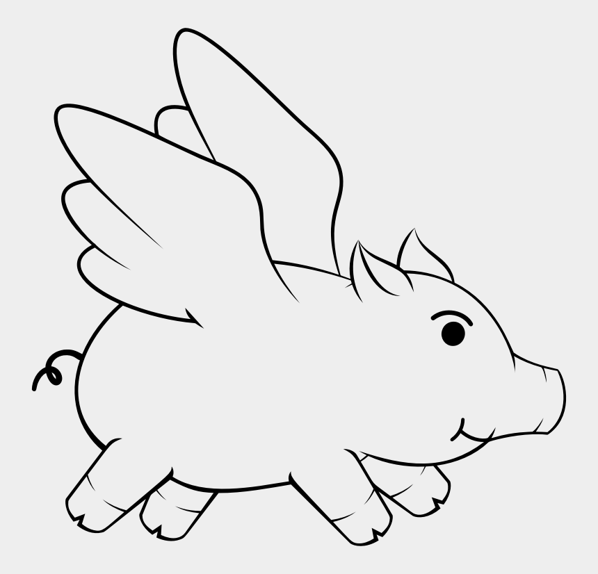 flying pig clipart, Cartoons - This Png File Is About Flying Pig , Oinker , Porky - Flying Pig Clipart Black And White