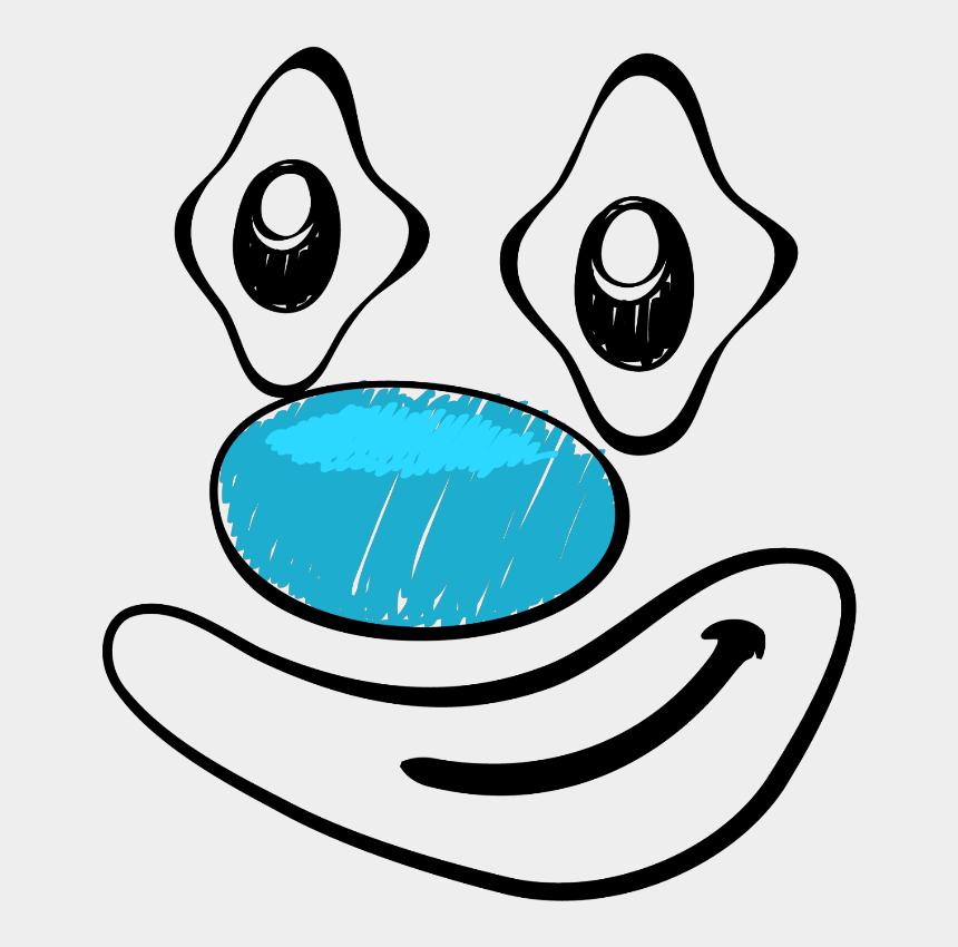 clown face clipart, Cartoons - #clown #face #nose #eyes - Clown