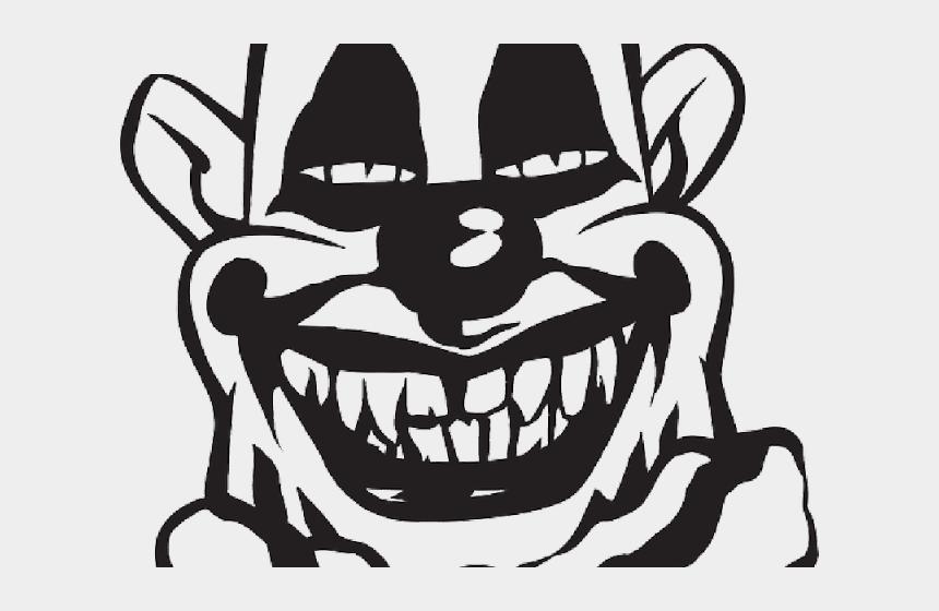 clown face clipart, Cartoons - Clown Clipart Silhouette - Scary Clown Clip Art