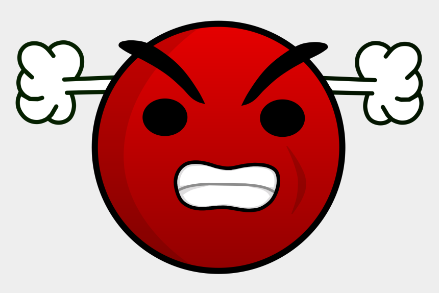 angry face clipart, Cartoons - Mouth Svg Mad - Red Angry Face Emoticon