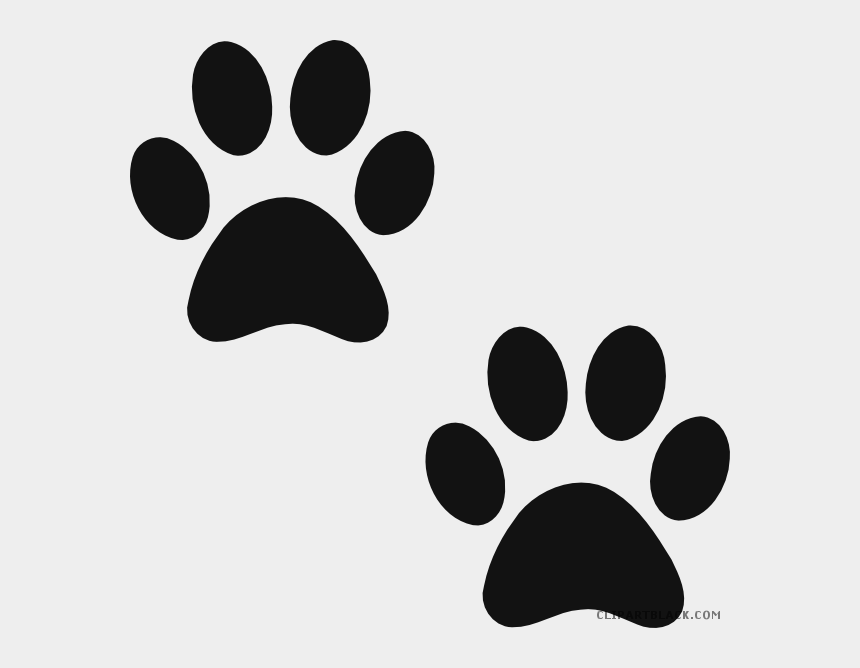 free dog clipart black and white, Cartoons - Paw Print Animal Free Black White Clipart Images Clipartblack - Bear Paw Print Clipart