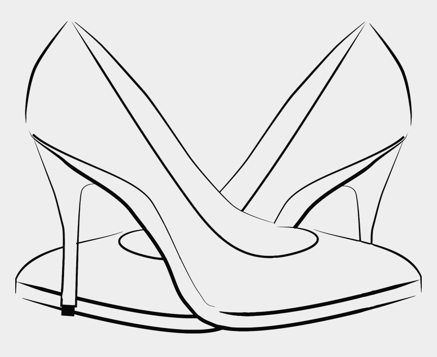 shoe clip art, Cartoons - Womens Shoes Line Art Icons Png - Women Shoes Logo Png