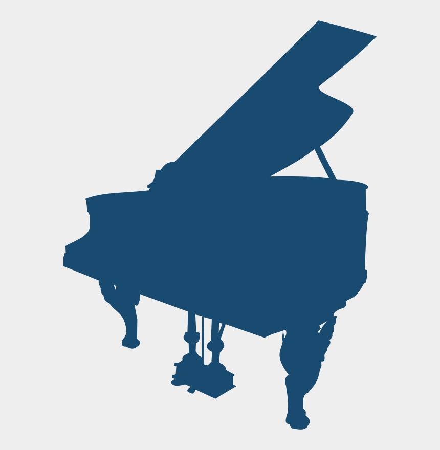 piano clip art, Cartoons - Grand Piano Silhouette