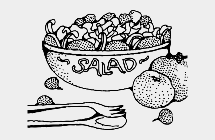 thanksgiving clip art black and white, Cartoons - Lettuce Clipart Black And White - Salad Clipart Black And White Free