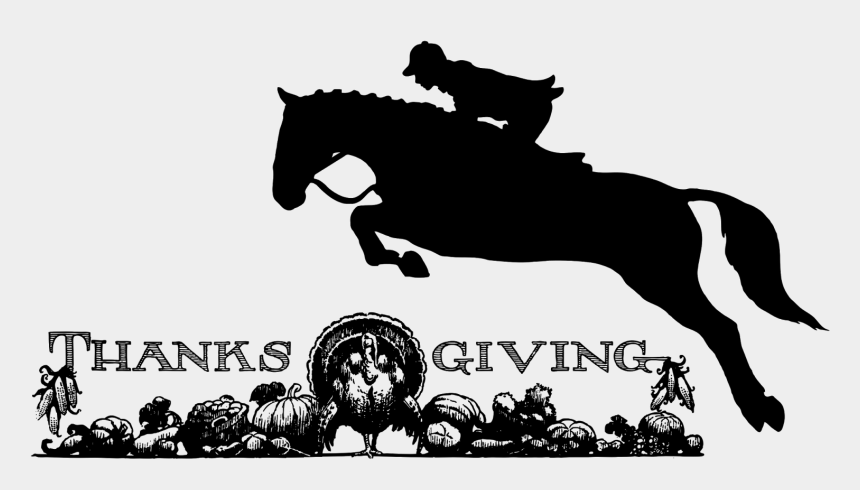 thanksgiving clip art black and white, Cartoons - Free Horse Thanksgiving Clipart - Jumping Horse Tattoo
