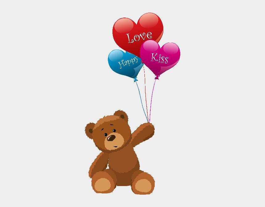 teddy bear clipart, Cartoons - Teddy Bears - Teddy Bears With Balloons