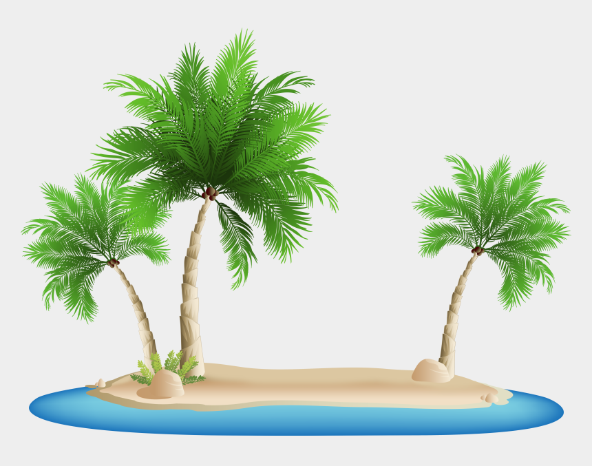 palm trees clip art, Cartoons - Palm Tree Clipart Clip Art - Palm Tree Island Png
