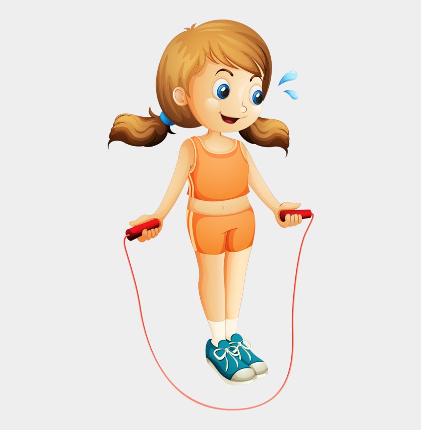 Girls Clipart Exercise J Is For Jump Rope Cliparts Cartoons Jing Fm