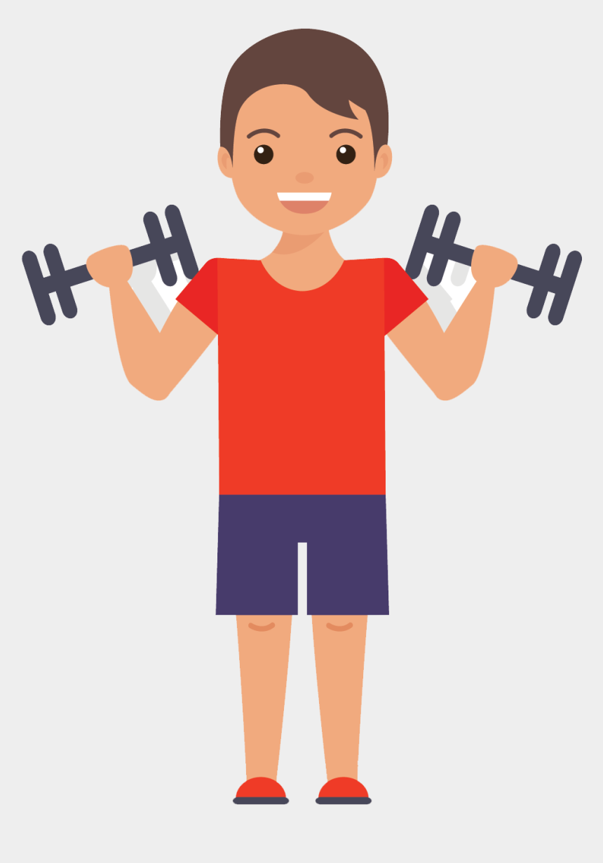 exercise clip art, Cartoons - Muscles Clipart Gym - Exercising Flat Design