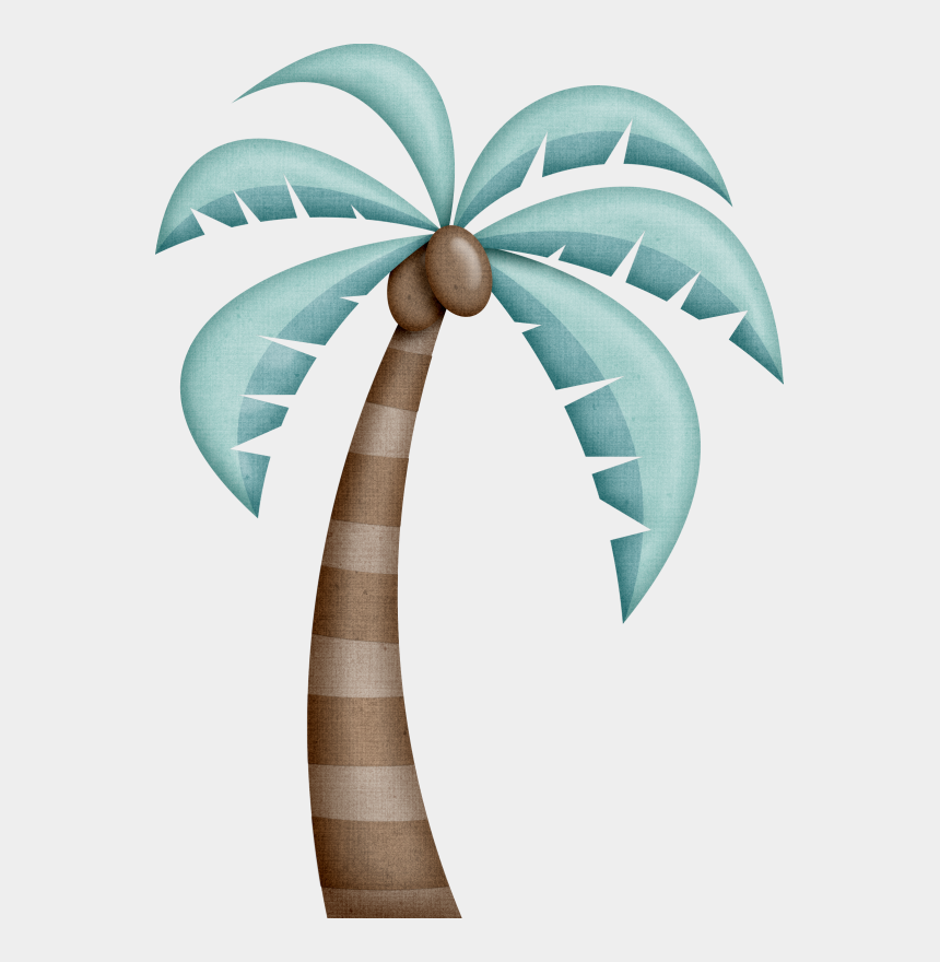 palm trees clip art, Cartoons - Beach With Palm Trees Vector Illustration - Clip Art