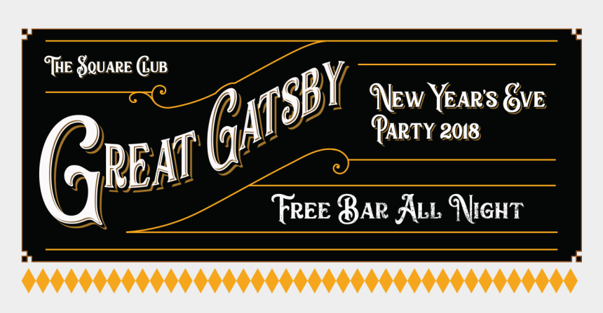 new years clip art, Cartoons - New Years Eve Party Bristol Square Banner - Calligraphy