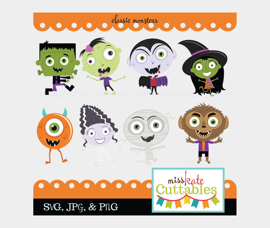 halloween clipart free, Cartoons - Classic Monster Svg Bundle Monster Svg Cut Files Cute - Cute Halloween Monsters Clipart