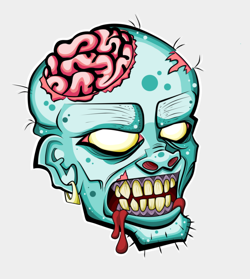 zombie clipart, Cartoons - Zombie Head Free Clipart Please Credit By Deadly Voo - Zombie Head Clipart