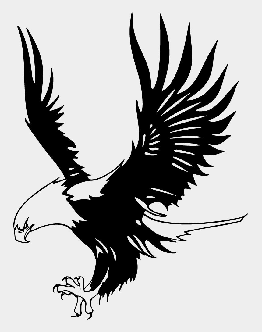 feather clipart black and white, Cartoons - Eagle Clip Art Black And White - Eagle Logo Design Black And White Png