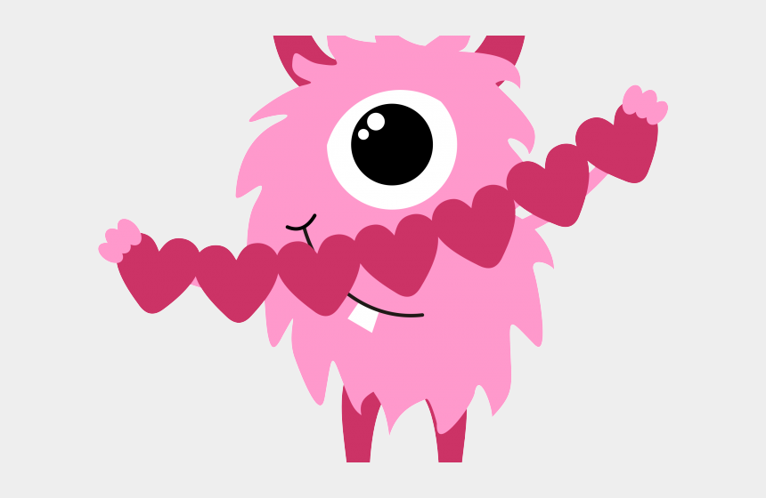 veterans day clipart, Cartoons - Valentine`s Day Clipart Monster - Cute Valentines Day Clip Art