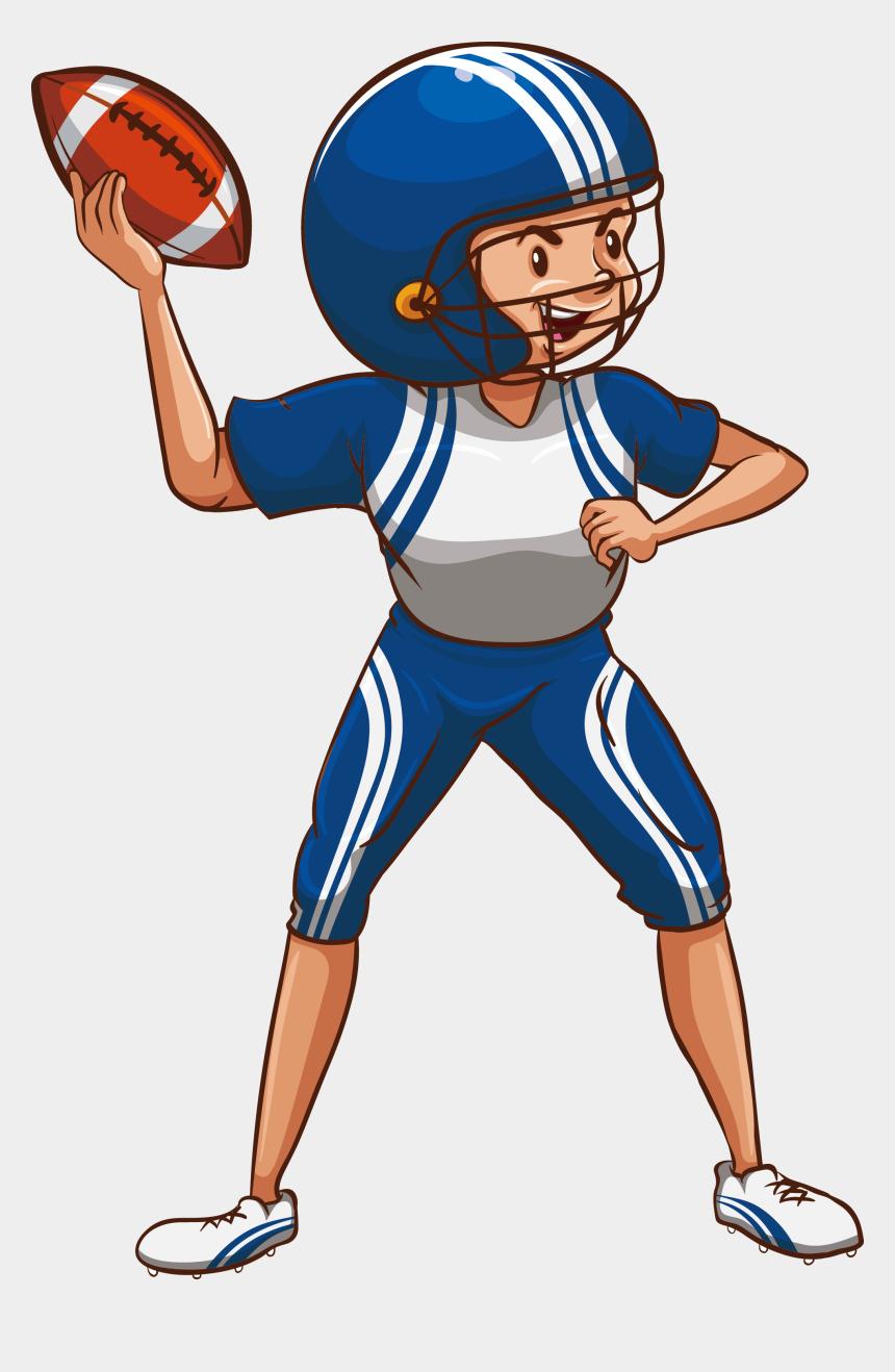 football clip art, Cartoons - Drawing Sport Football Player - American Football Female Players Png