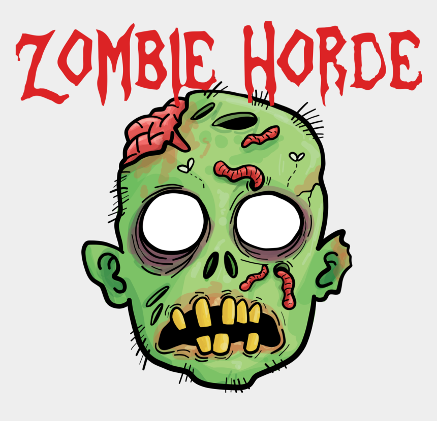 zombie clipart, Cartoons - Zombie Horde Png - Head Zombie Png