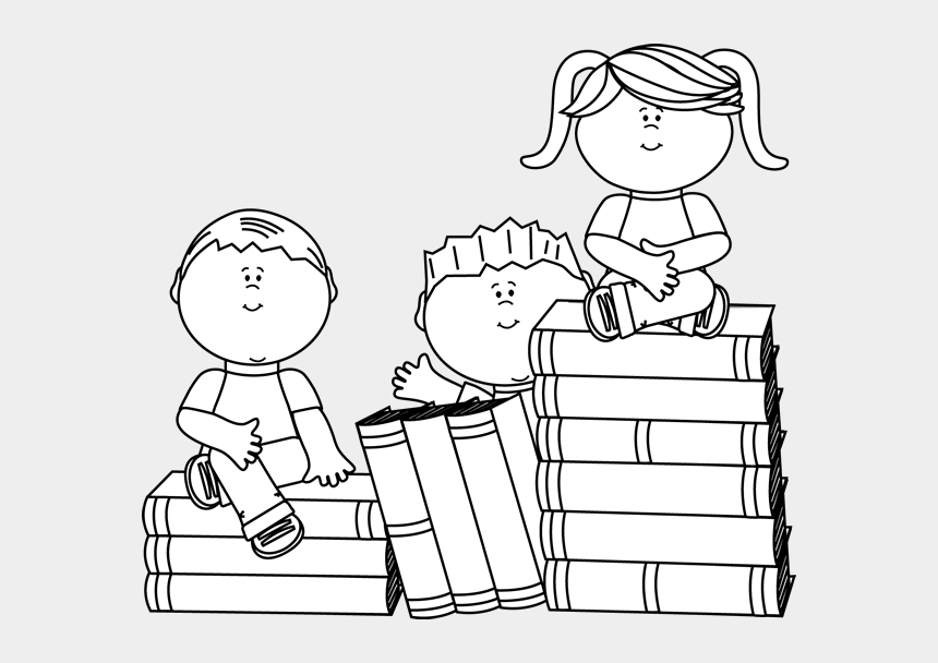 stack of books clipart black and white, Cartoons - Top Of Black And - Black And White Book Clip Art