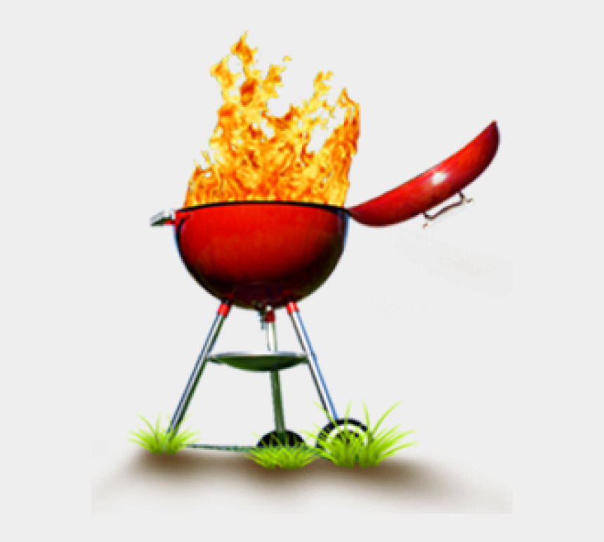 grill clip art, Cartoons - Clipart Grill Image - Red Grill With Flames