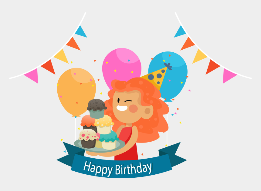 birthday party clip art, Cartoons - Clip Art Transparent Download Birthday Cake Party Happy - Vector Graphics