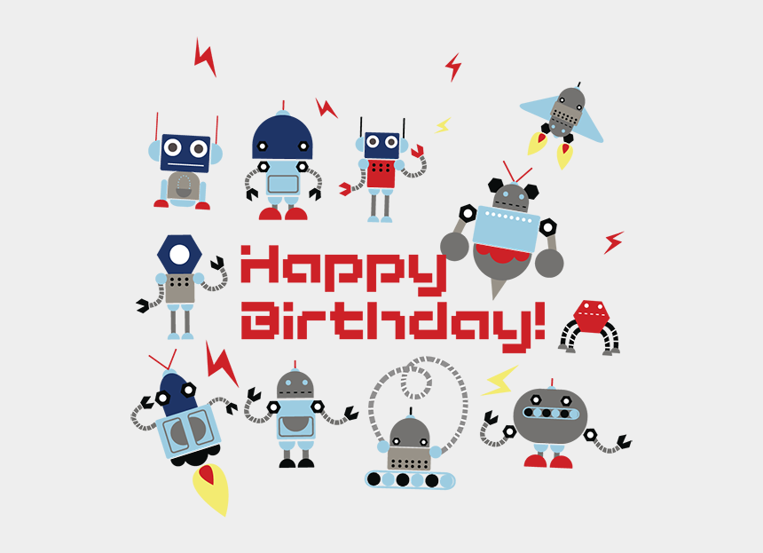 birthday party clip art, Cartoons - Kids Birthday Party Robotics For Kids - Happy Birthday Robotics