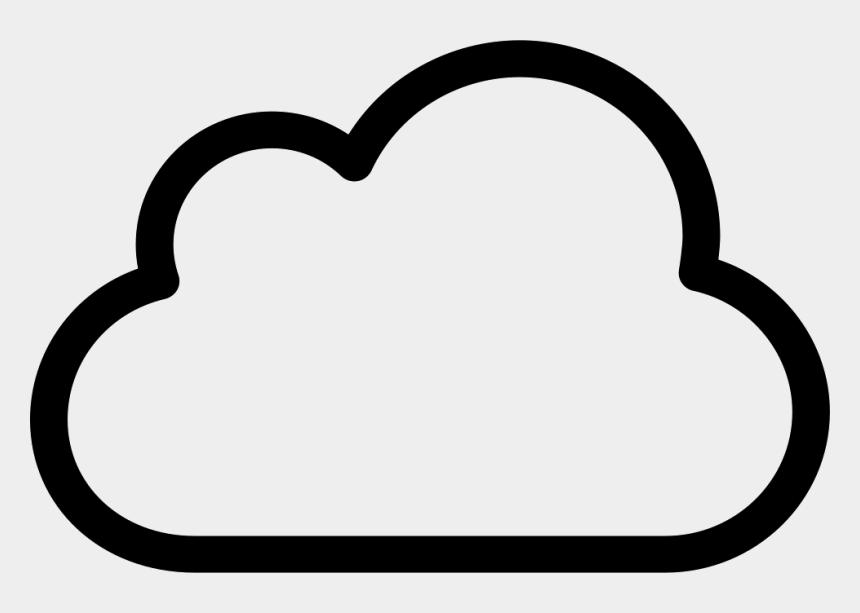 Clouds Banner Cliparts - Cloud Outline Png Transparent