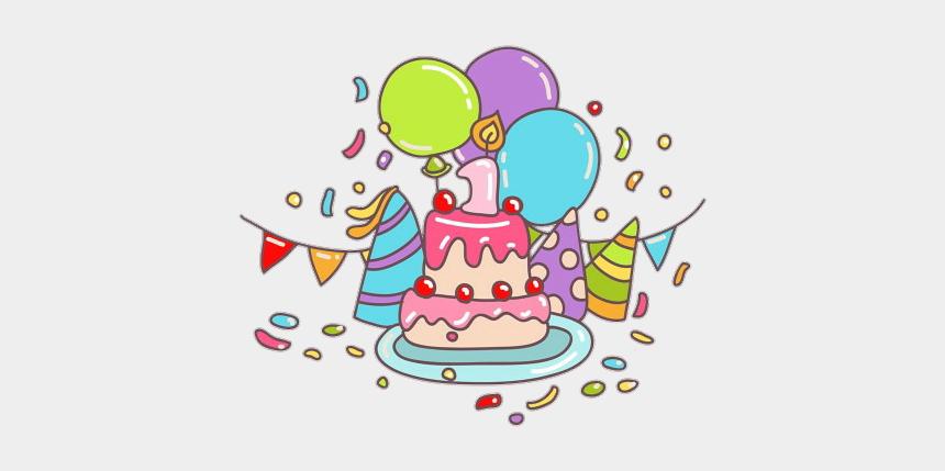 birthday party clip art, Cartoons - #birthday #party #giftbox #happybirthday #balloon #colorful - زينة عيد ميلاد سعيد