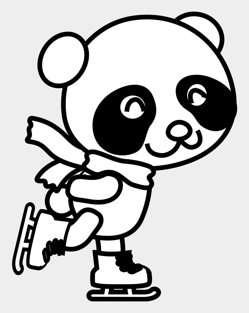 panda clip art, Cartoons - Christmas Panda Coloring Pages