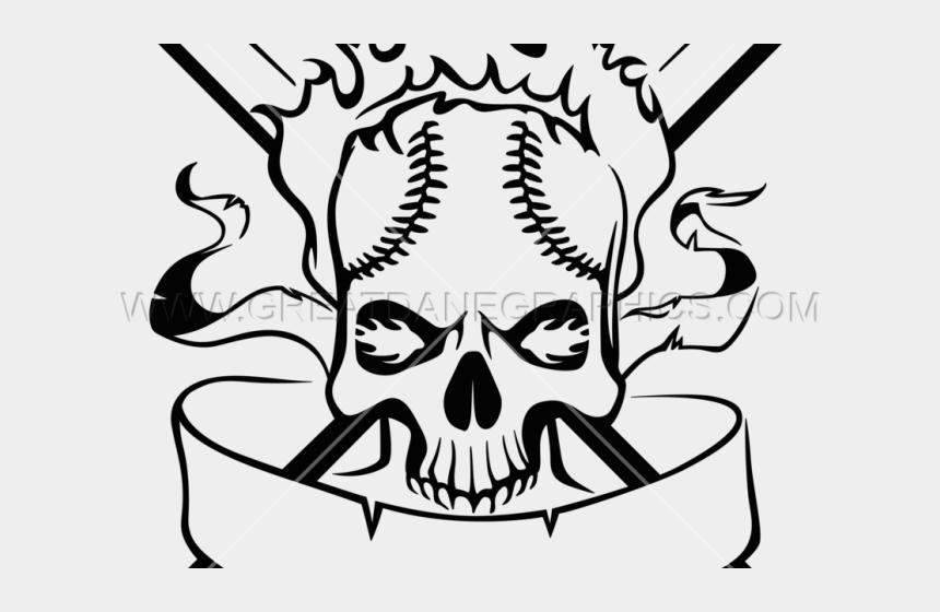 skull clipart black and white, Cartoons - Skull Clipart Baseball - Baseball Skull Clipart Black And White