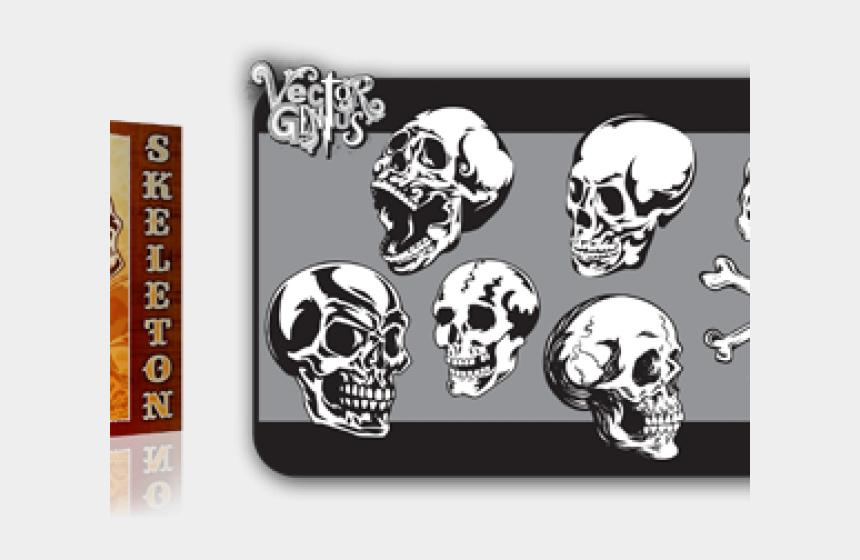 skeleton head clipart, Cartoons - Skull Tattoo Clipart Classic - Vintage Tattoo Skull Vector