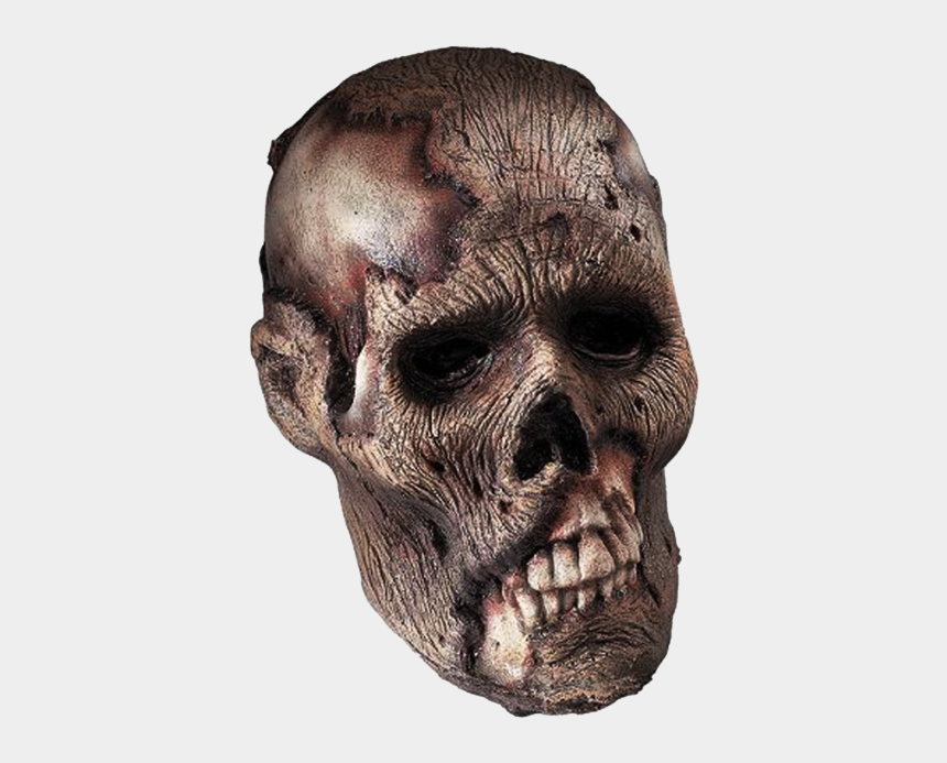 skeleton head clipart, Cartoons - Skeleton Head Clipart Zombie Skull - Png Head