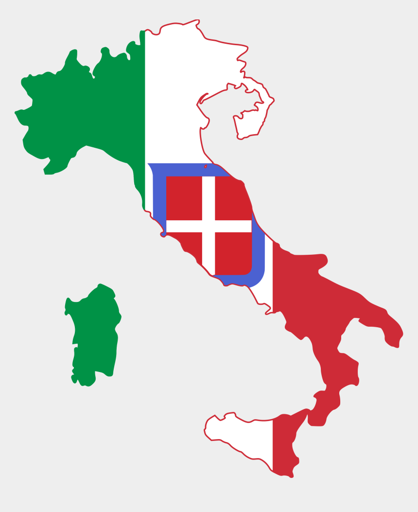 flags of the world clipart, Cartoons - Svg Flags World War - Kingdom Of Italy Flag Map