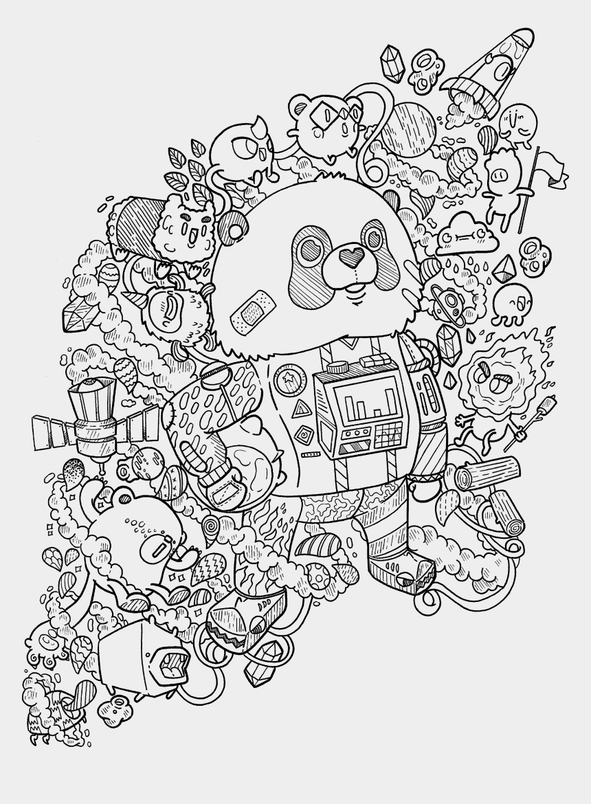 space clipart black and white, Cartoons - Drawing Area Outer Space - Doodles In Outer Space Coloring Book