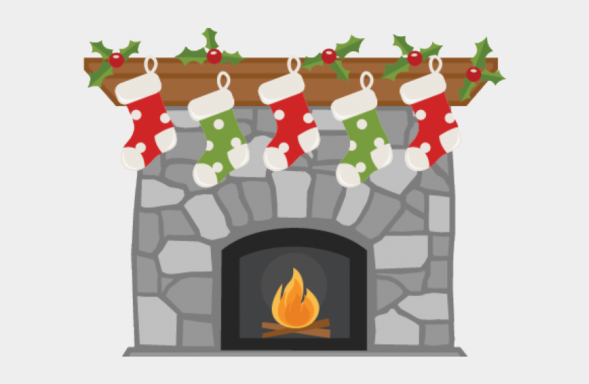 christmas fireplace clipart, Cartoons - Christmas Stocking And Fireplace Clipart