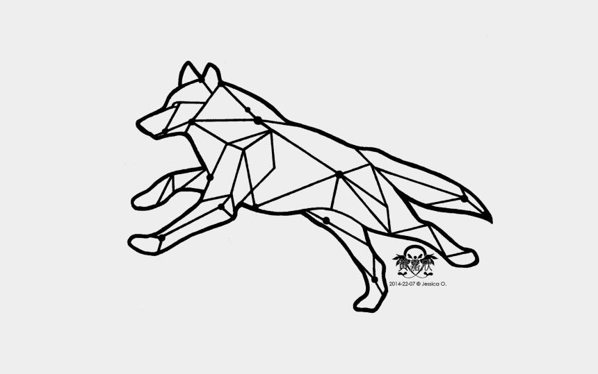 wolf head clipart, Cartoons - Wolf Tattoos Clipart Head - Transparent Geometry Tattoo Designs
